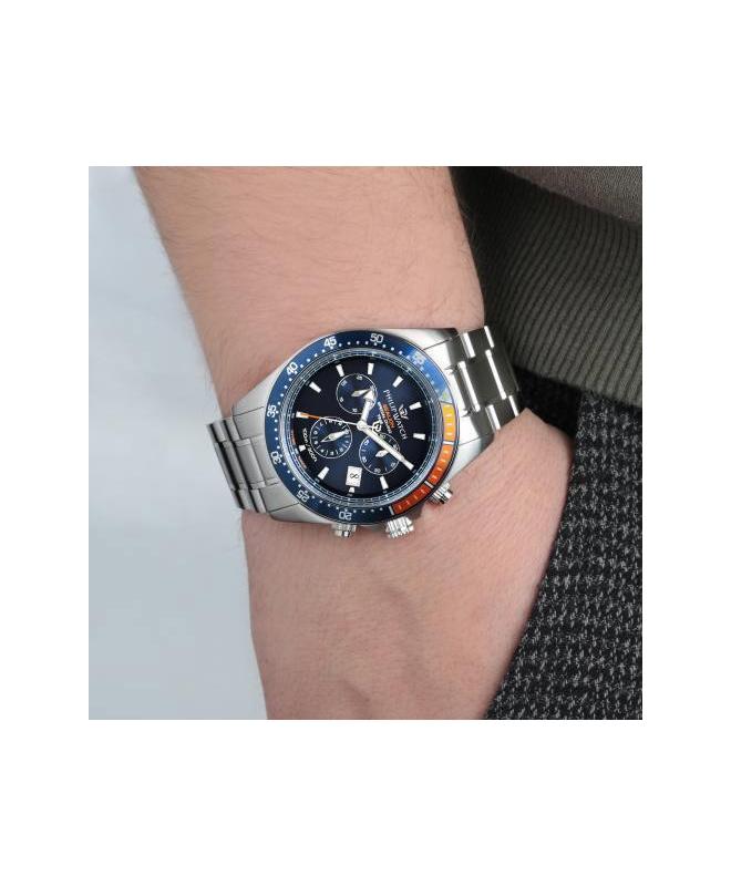 Philip Watch Sealion 42mm chr blue dial br ss uomo R8273609001 - galleria 2