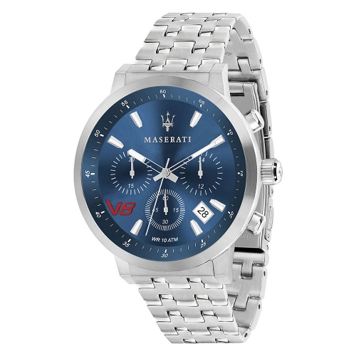 Maserati Gt 44mm chr blue dial br ss uomo R8873134002
