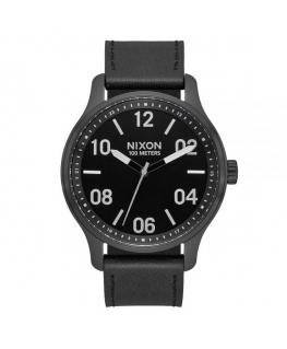 Orologio Nixon The Patrol pelle / nero - 42 mm