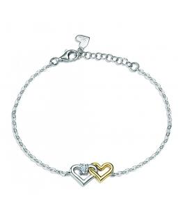 Morellato Cuori br. heart white zir arg.925 16+3cm donna SAIV27
