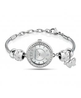 Morellato Drops 26mm 2h silver dial br ss 5 bead donna