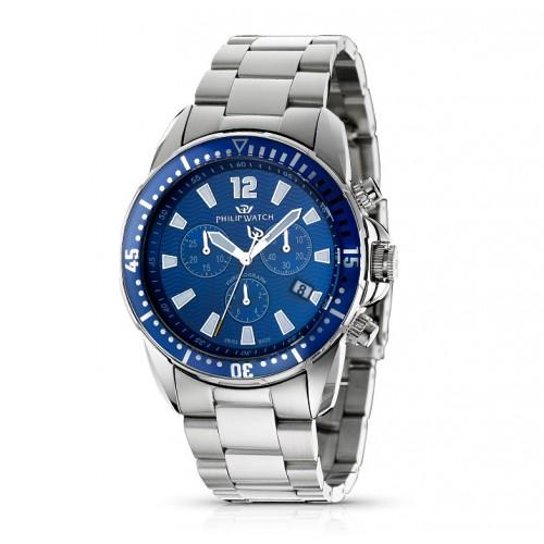 Orologio Philip Watch Prestige Cruiser uomo acciaio / blu