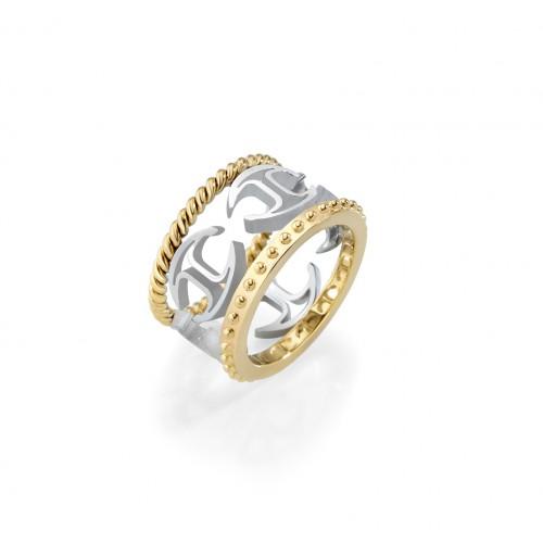 Anello Just Cavalli Pure donna acciaio / oro