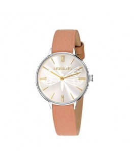 Morellato Ninfa 30mm 2h withe dial brown st