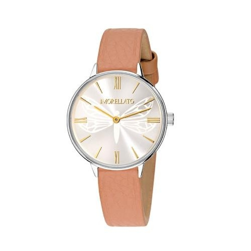 Morellato Ninfa 30mm 2h withe dial brown st donna R0151141502
