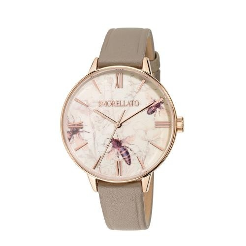 Morellato Ninfa 36mm 3h rose w/insect dial beige s