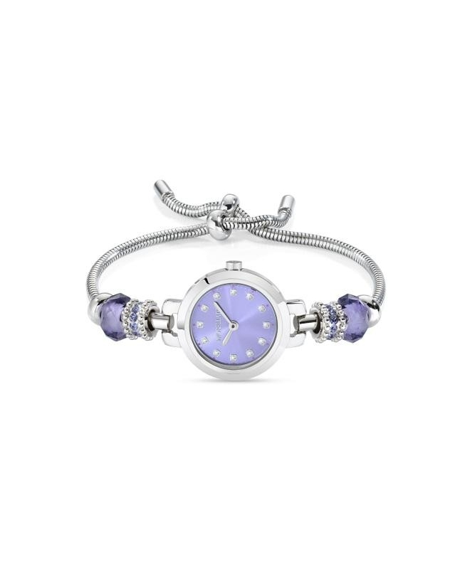 Morellato Drops 2h 28mm lilac dial br 4 beads ss - galleria 1
