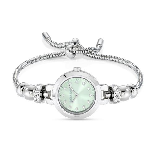Morellato Drops 2h 28mm green dial br 4 beads ss donna