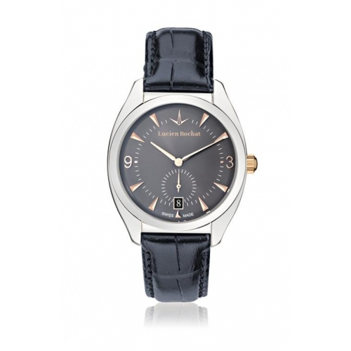 Lucien Rochat Lunel 36mm 3h cool gray dial blue strap