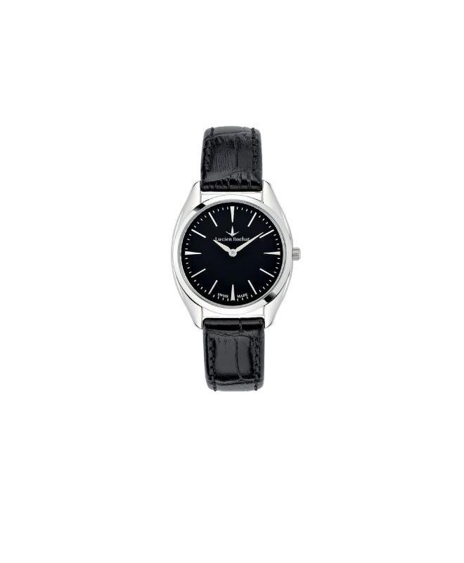 Lucien Rochat Lunel 32mm 2h black dial black strap - galleria 1