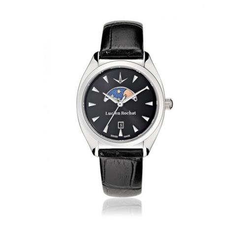 Lucien Rochat Lunel 32mm 3h cool gray dial black strap