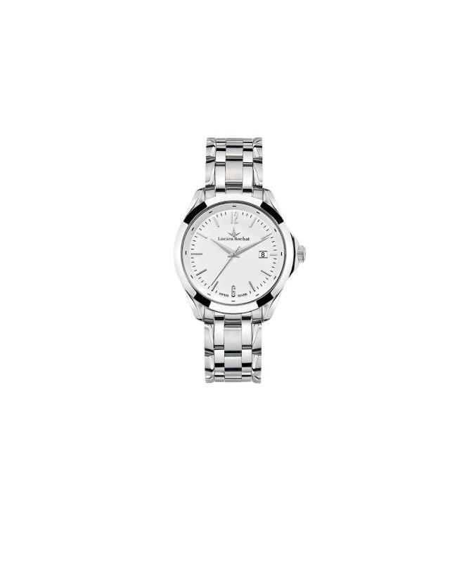 Lucien Rochat Montpellier 41mm 3h white dial ss br - galleria 1