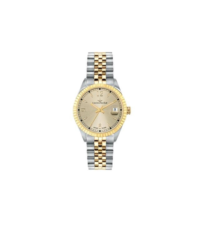 Lucien Rochat Reims lady 35mm 3h yg dial ss+yg br - galleria 1