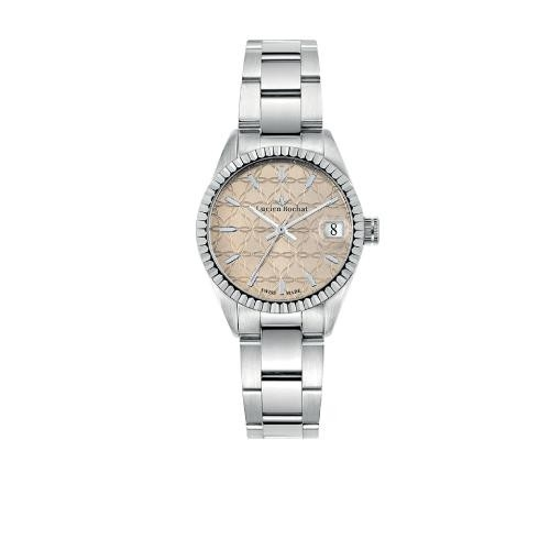 Lucien Rochat Reims lady 31mm 3h pink gui dial ss b