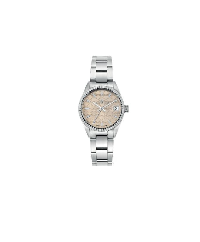 Lucien Rochat Reims lady 31mm 3h pink gui dial ss b - galleria 1