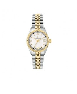 Lucien Rochat Reims lady 31mm 3h white dial yg+ss b
