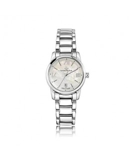 Lucien Rochat Geste' lady 30mm 6h white dial ss br