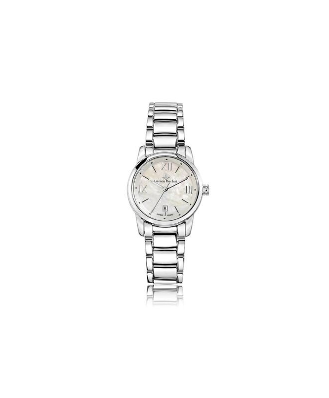 Lucien Rochat Geste' lady 30mm 6h white dial ss br - galleria 1