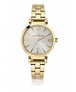 Lucien Rochat Giselle 34mm 3h w/silver dial yg br