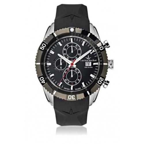 Lucien Rochat Krab 45mm chr black dial black st