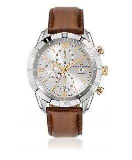 Lucien Rochat Krab 45mm chr w/silver dial brown st