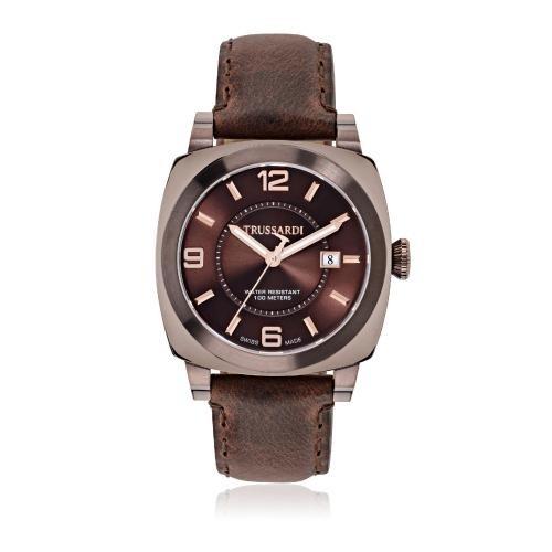 Trussardi Trussardi 1911 42mm 3h brown dial/strap