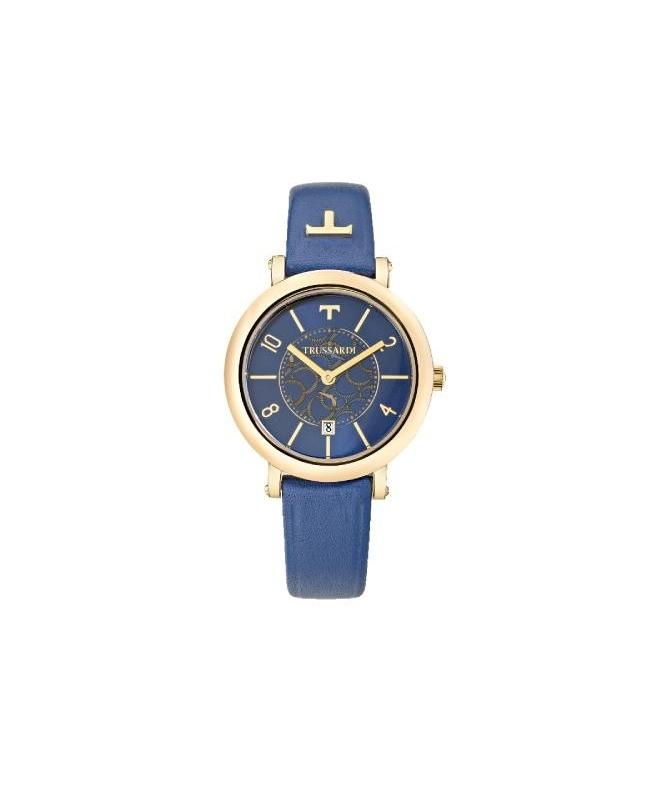 Trussardi T-pretty 32mm 3h blue dial blue straps - galleria 1