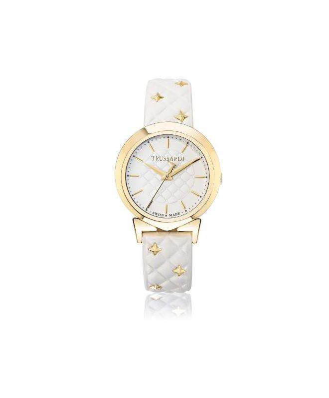 Trussardi Antilia 34mm 3h white dial white strap - galleria 1