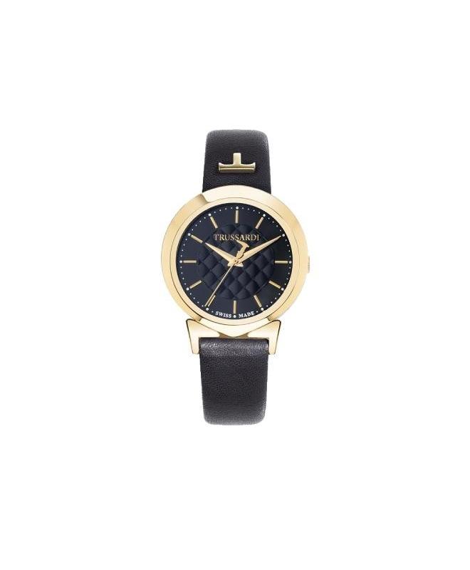 Trussardi Antilia 34mm 3h black dial black strap - galleria 1