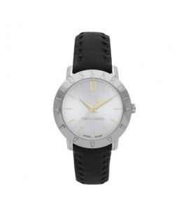 Trussardi Sinfonia 32mm 3h silver dial black strap