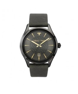 Trussardi Tfirst gent 43mm 3h grey dial green st