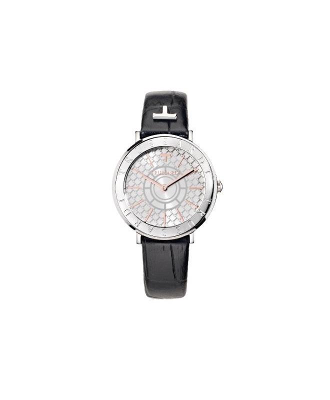 Trussardi T-vision 30mm 3h white silver dial blk s - galleria 1