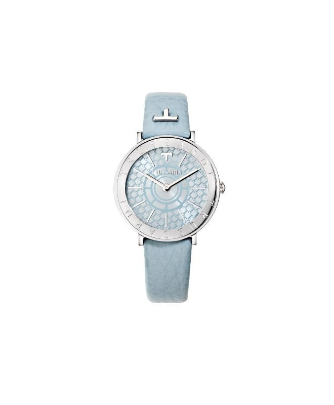 Trussardi T-vision 30mm 3h w/silver dial gray st - galleria 1