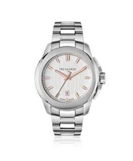 Trussardi T01 3h whte/silver dial bracelet
