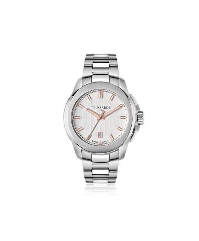 Trussardi T01 3h whte/silver dial bracelet - galleria 1