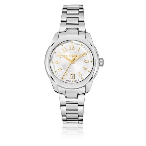 Trussardi T01 lady 36mm 3h silver dial br ss