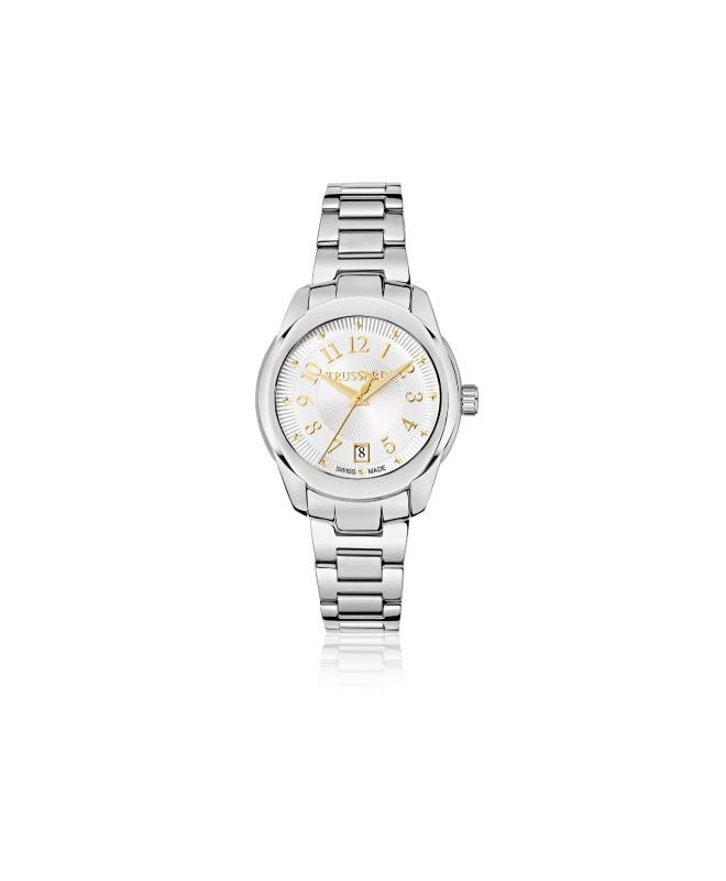 Trussardi T01 lady 36mm 3h silver dial br ss - galleria 1