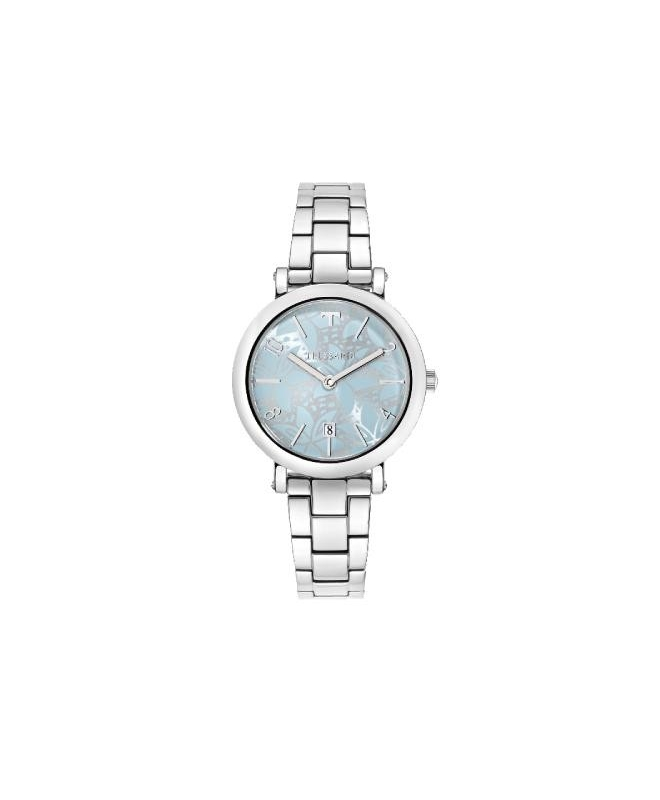 Trussardi T-pretty 32mm 3h light blue dial br ss - galleria 1