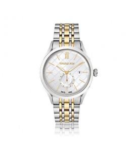 Trussardi Milano 3h white dial bracelet ss+yg