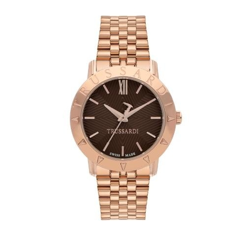 Trussardi Sinfonia 32mm 3h brown dial rg br