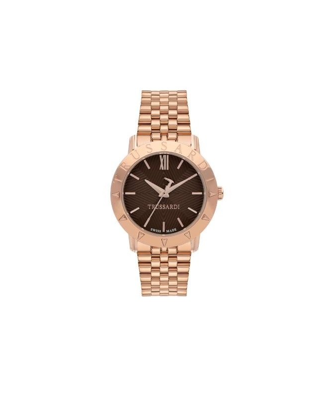 Trussardi Sinfonia 32mm 3h brown dial rg br - galleria 1