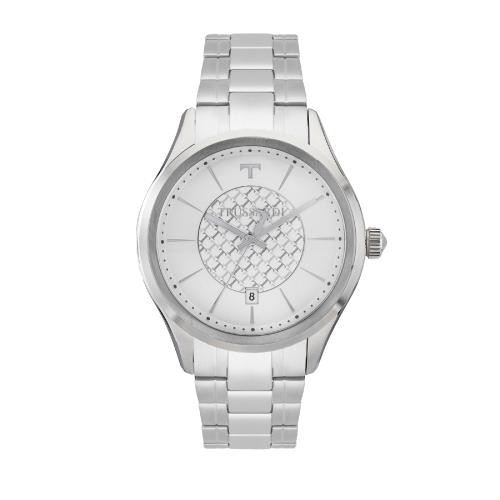 Trussardi Tfirst gent 43mm 3h silver dial ss br