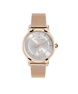 Trussardi T-genus 32mm small second sil di rg mesh