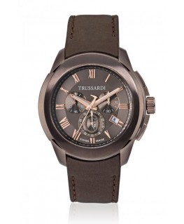 Trussardi T01 chr brown dial brown strap