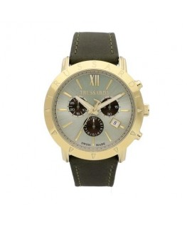 Trussardi Sinfonia 42mm chr champagne dial brown s