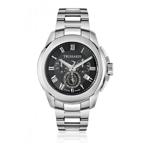 Trussardi T01 chr black dial bracelet