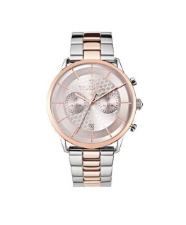 Trussardi T-world 43mm chr silver dial br ss+rg