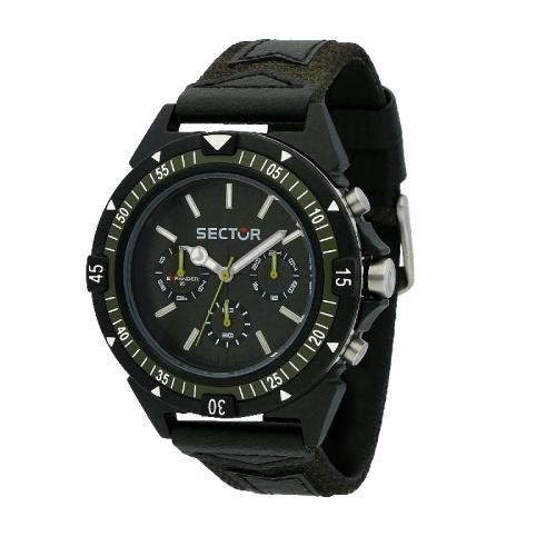 Sector Expander 90 44mm mult green dial/strap