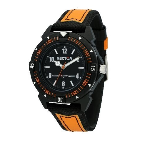 Sector Expander 90 40mm 3h blk dial ornage st uomo R3251197057