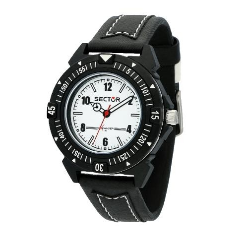 Sector Expander 90 40mm 3h white dial black st